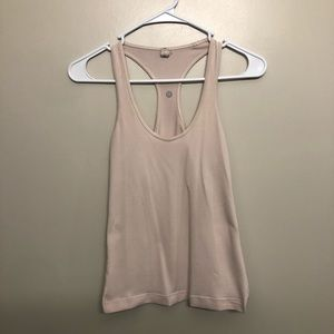 Lululemon athletic tank top pink tan size 4
